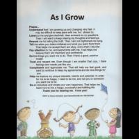 As I Grow Laminated poster