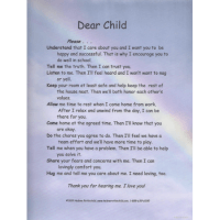 Dear Child Laminated Poster