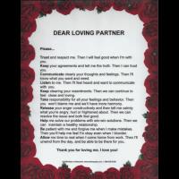 Dear Loving Partner laminated poster