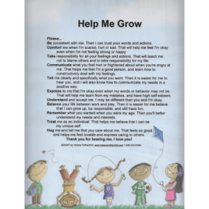 Help Me Grow Laminated Poster