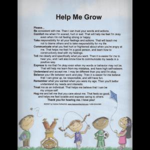 Help Me Grow Laminated Poster