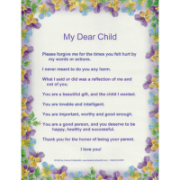 My dear Child laminated poster