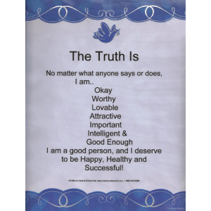 The Truth Is Laminated poster